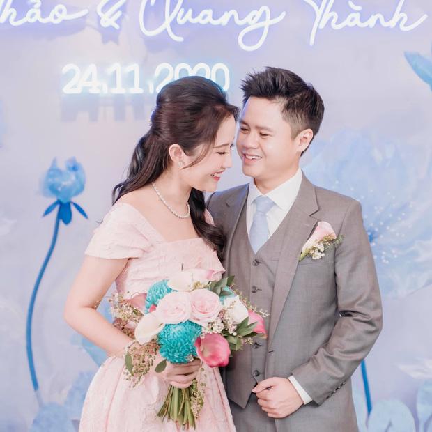 Phan Thành và Primmy Trương trong lễ đính hôn vừa qua.