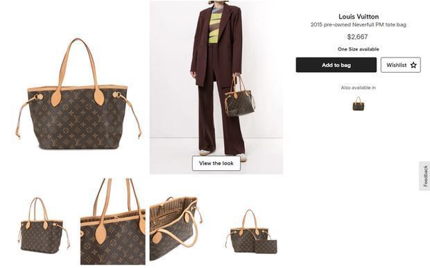 Chiếc túi LV Neverfull sang xịn đang có giá 2.667 USD (tương đương hơn 60 triệu đồng theo tỷ giá hiện tại)