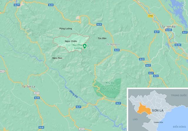 Án mạng xảy ra tại xã Ngọc Chiến, huyện Mường La, tỉnh Sơn La. Ảnh: Google Maps.