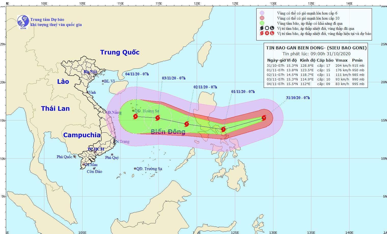 Tin mới nhất về siêu bão Goni giật trên cấp 17 0