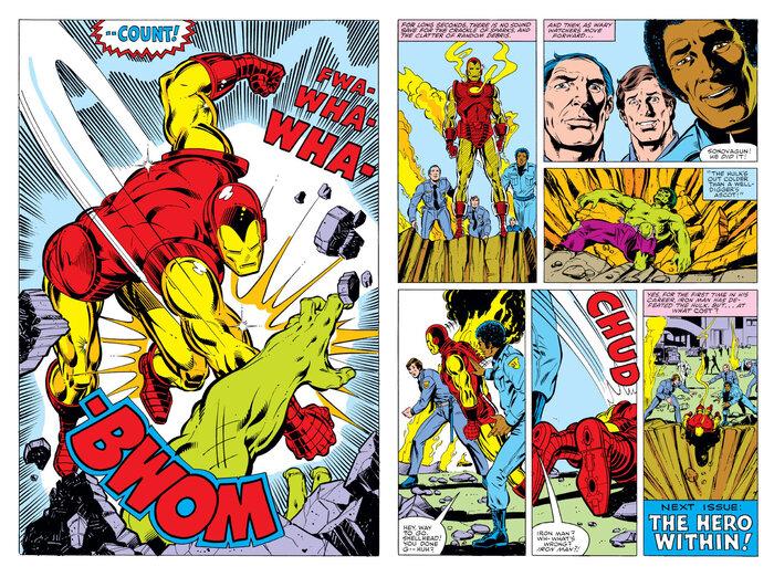 Cái giá của việc đấm gục Hulk là Tony cũng bất tỉnh nhân sự.
