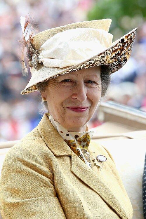 Năm 2015, bà mặc lại bộ quần áo này với một chiếc mũ và trâm cài khác.