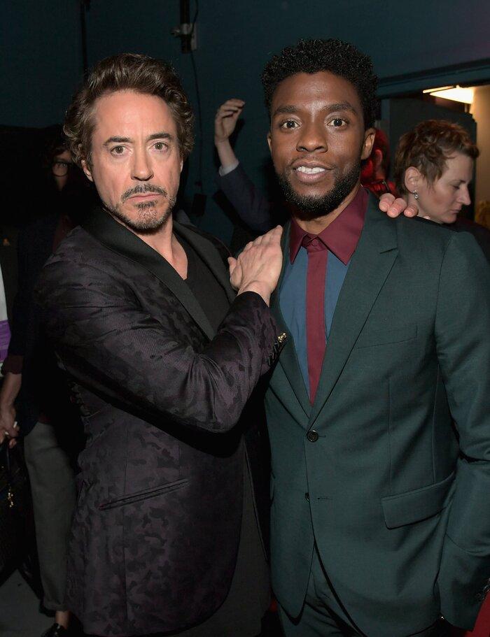 'Iron Man' Robert Downey Jr. gây xúc động với lời nhắn gửi Chadwick Boseman: Một cuộc sống theo chủ nghĩa người hùng thực sự! 4