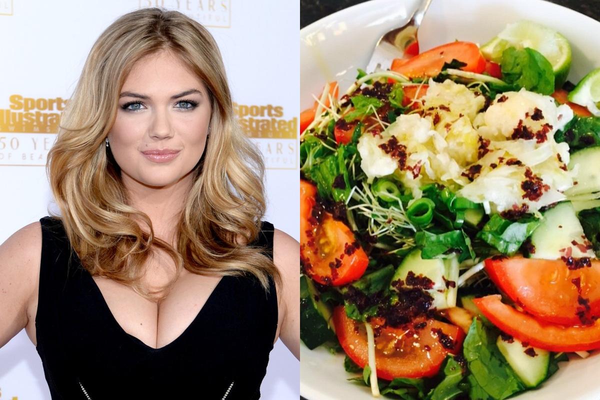 Để giảm cân hiệu quả và da dẻ hồng hào, bạn cứ học Miranda Kerr hay Kate Upton ăn salad mỗi ngày 5