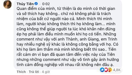 Thủy Tiên phản ứng gay gắt khi cư dân mạng nhắc tới Trấn Thành, Ngọc Trinh: Những comment như vậy gây ảnh hưởng tình cảm đồng nghiệp 2