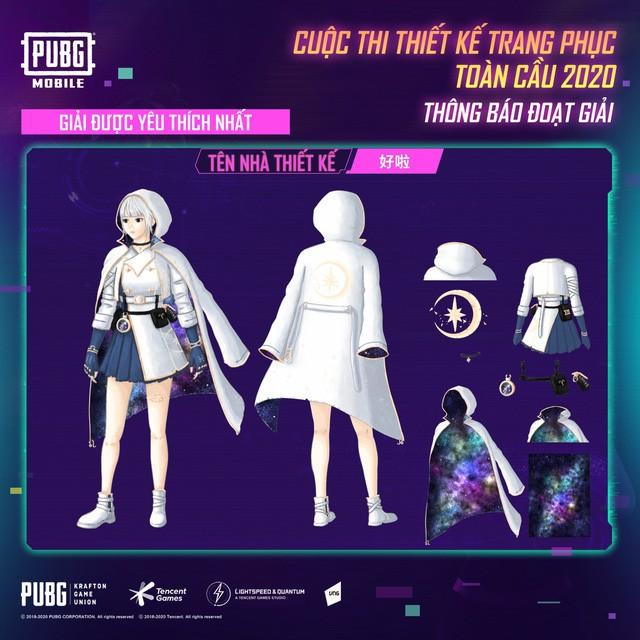 Đây là tác phẩm đoạt giải cao nhất, nhận được giải thưởng hơn $5000 từ PUBG Mobile. Thiết kế tinh giản nhưng lại trẻ trung, khác biệt với màu trắng chủ đạo.