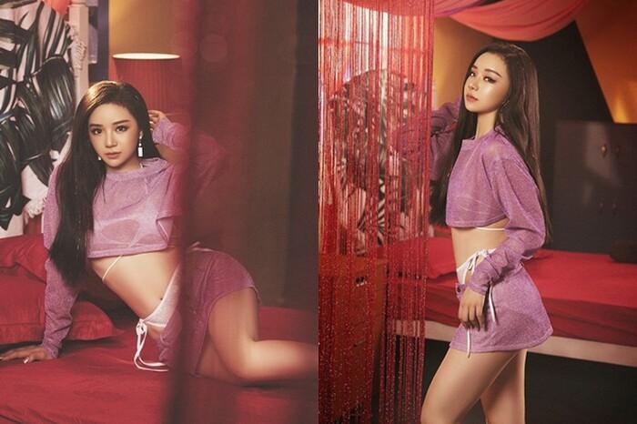 Hot girl Nhã Tiên cũng nhận nhiều gạch đá vì chọn trang phục quá mỏng khi kết hợp với mốt quần tụt.