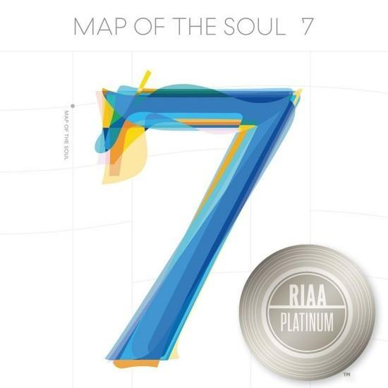 Sát thềm tái xuất, BTS đã có thêm một album đạt chứng nhận Bạch kim của Mỹ, chính là album Map of the Soul: 7.