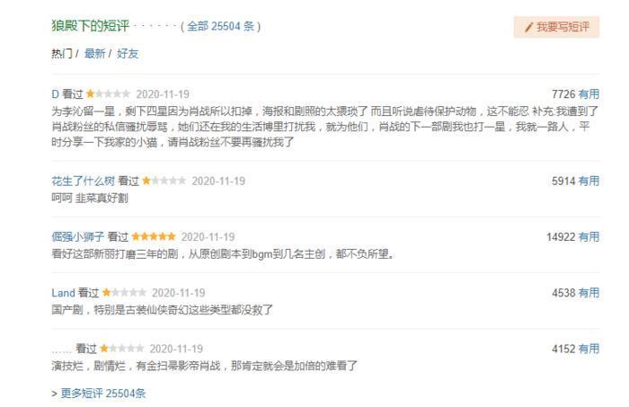 Douban 'Lang điện hạ': Tiêu Chiến được ngợi khen, 26 ngàn bình luận đánh giá chỉ sau vài giờ lên sóng 6