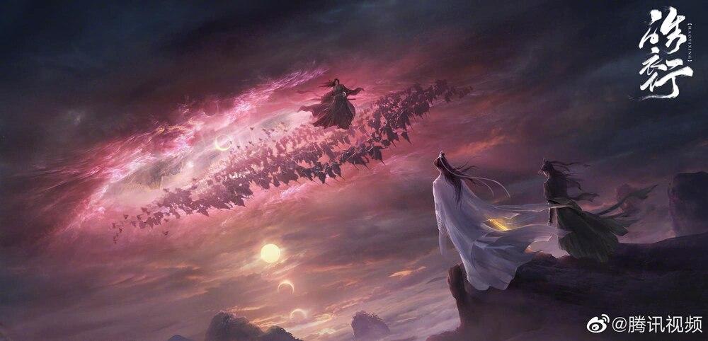 Dân mạng phát sốt với hình ảnh thân mật của La Vân Hi - Trần Phi Vũ trong hậu trường Hạo y hành.