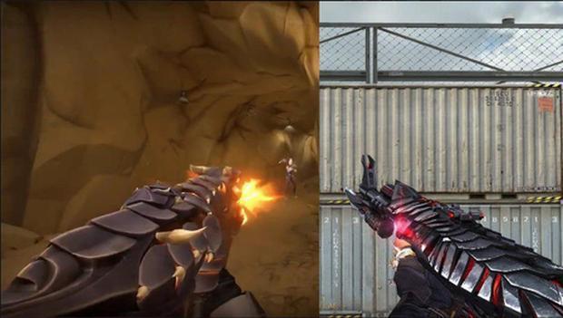 Dòng skin Elderflame được cho khá giống với với bộ súng Infernal Dragon của Đột Kích