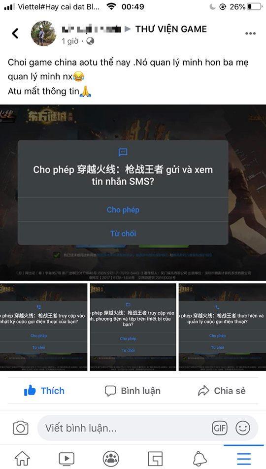Hãy cẩn trọng! Đây là những thứ mà một game mobile Trung Quốc sẽ làm với điện thoại và thông tin của bạn 0