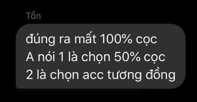 Tin nhắn gây sốc được bên bán (quản trị viên Phố Bò Team) gửi người mua được phía InDaDubai đăng tải khiến nhiều người phải ngao ngán.