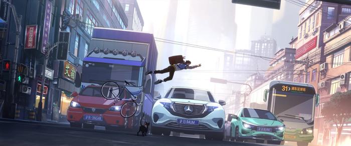 Một số chi tiết nhỏ khác được Riot Games thêm vào MV có thể kể đến cameo của các vị tướng. Trong hình, trên biển số xe lần lượt là Rengar, Braum, LeBlanc