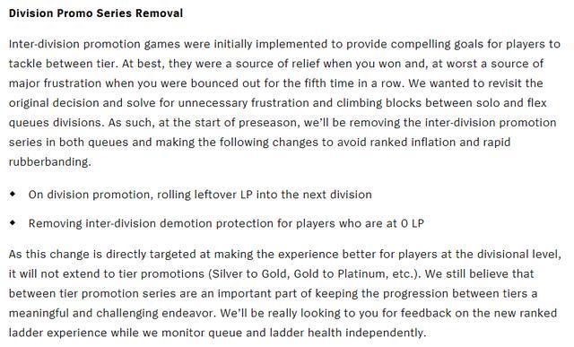 Thông báo xóa bỏ chuỗi thăng hạng giữa các bậc rank của Riot Games