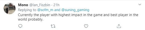 'SofM là người chơi có tầm ảnh hưởng lớn nhất, có thể là tuyển thủ xuất sắc nhất CKTG năm nay' - một game thủ gửi lời khen tới SofM