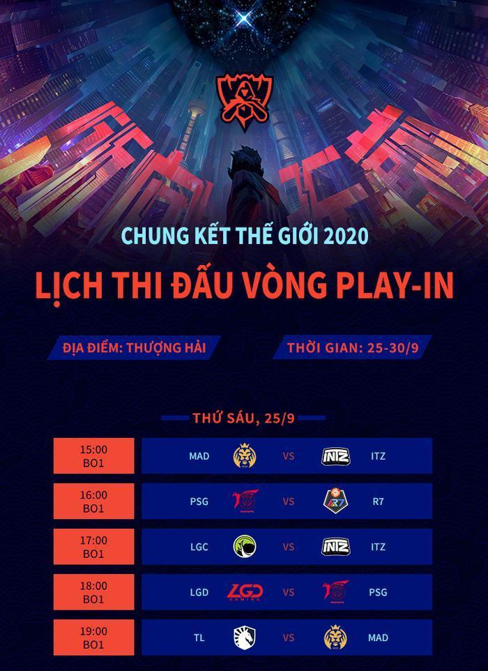 Lịch thi đấu ngày đầu tiên của Vòng Khởi Động (Ảnh: LPL Việt Nam)