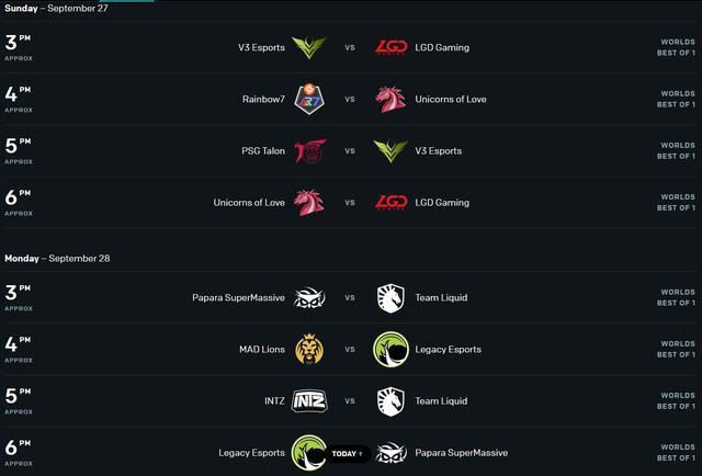 2 ngày thi đấu cuối cùng - ngày 27 và 28/9 - sẽ chỉ diễn ra từ 15h00 đến 18h00 (giờ Việt Nam)