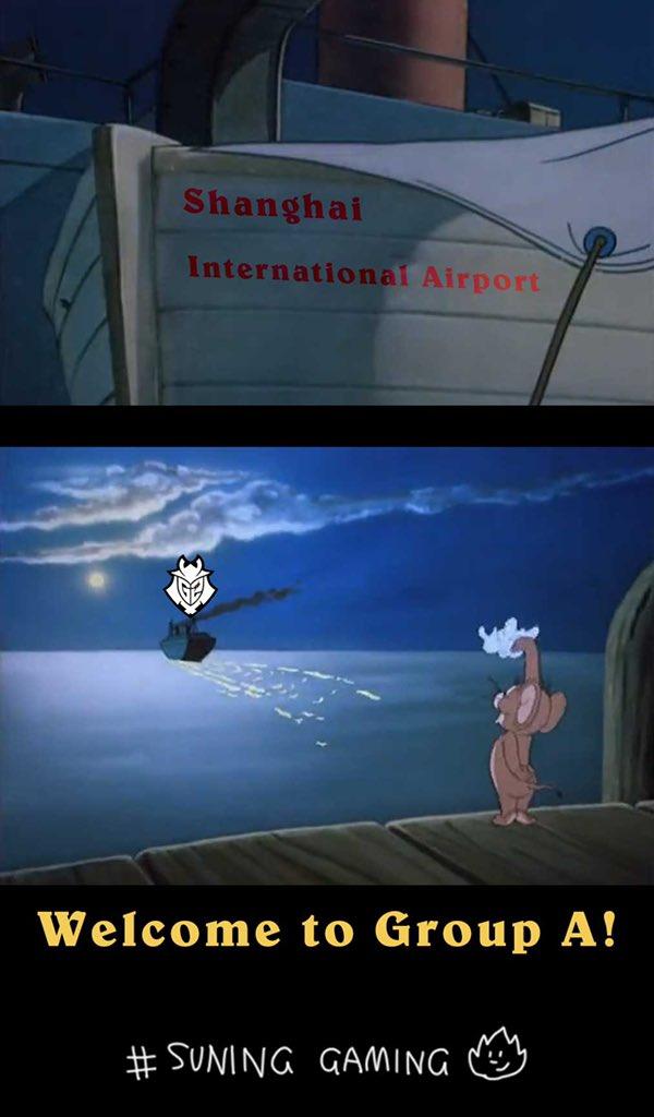 Cái kết là Suning tuyên bố sẽ tiễn G2 Esports ra sân bay quốc tế Thượng Hải và gửi họ về Châu Âu bằng đường hàng không