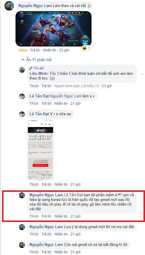 Game thủ Nguyễn Ngọc Lam chia sẻ với cộng đồng