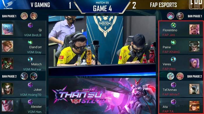 Đội hình của FAP trong trận gặp V Gaming