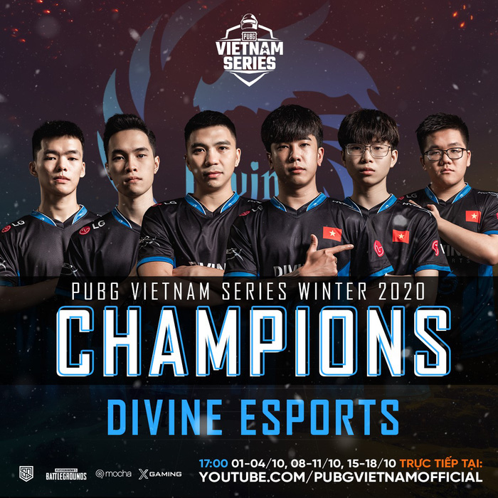 Divine Esports vô địch PUBG Vietnam Series Winter 2020