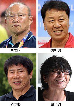 4 nhân vật quan trọng trong ban huấn luyện tuyển Hàn Quốc giành hạng 4 World Cup 2002 (Ảnh: JoongAng Ilbo)