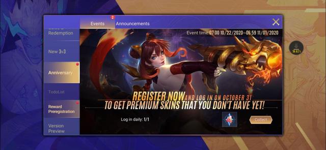 Chỉ cần đăng nhập vào game thì người chơi sẽ nhân Huy hiệu.