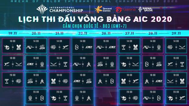Lịch thi đấu AIC 2020