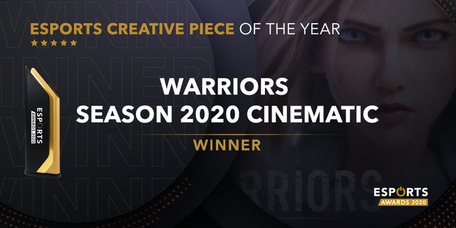 Riot Games chiến thắng hạng mục 'Sản phẩm sáng tạo của năm' với video cinematic Warriors