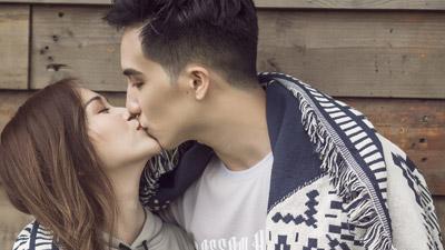 Sĩ Thanh và bạn trai hotboy say đắm 'khóa môi'