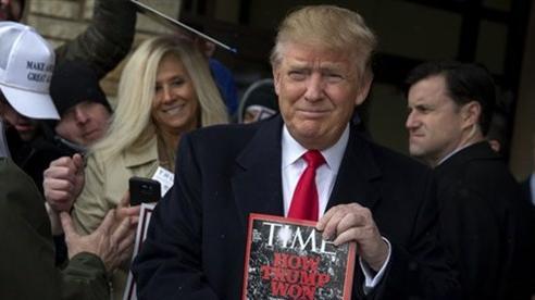 Ông Trump bị tạp chí Time 'bóc mẽ' với danh hiệu Nhân vật của Năm