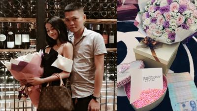 Hộp quà sinh nhật bằng tiền mặt số lượng 'khủng' chồng tặng vợ trẻ khiến dân mạng xôn xao