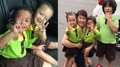 Em bé tật nguyền ở Thanh Hóa rạng rỡ trong ngày đầu đến trường