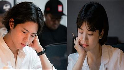 Song Hye Kyo mặt trẻ măng trong hậu trường buổi đọc kịch bản với 'đàn em' Park Bo Gum