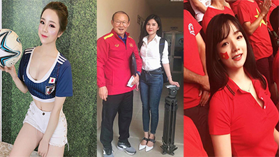 3 hotgirl cổ vũ bóng đá Việt Nam được báo chí châu Á ráo riết săn lùng