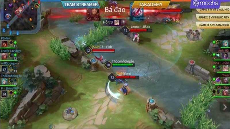 HIGHLIGHTS Trận 2 - Showmatch Mocha Xgaming Liên Quân Đại Chiến: Takademy thắng áp đảo Team Streamer
