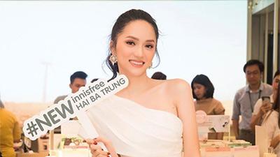 Hương Giang đọ sắc cùng 3 mỹ nhân 'Mắt Biếc' tại sự kiện khai trương innisfree Hai Bà Trưng