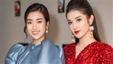 Á hậu Huyền My váy ngắn sexy đọ sắc Hoa hậu Mỹ Linh 'kín cổng cao tường'