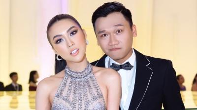 Hoa hậu Tường Linh diện váy xuyên thấu, thân thiết bên 'Mr. Cần Trô' Xuân Nghị