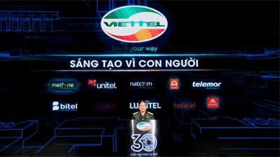 Viettel tuyên bố mục tiêu kiến tạo xã hội số nhân kỷ niệm 30 năm ngày thành lập
