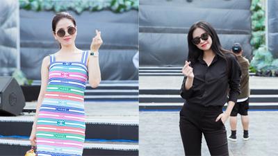 Lệ Quyên 'chơi trội' diện set đồtiền tỷ, Hoàng Thùy Linh nhí nhảnh tại buổi tổng duyệt chung kết Miss World Việt Nam