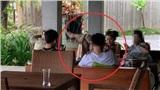 Hình ảnh Á hậu Huyền My với dáng ngồi 'phản cảm' được chia sẻ rầm rộ trên mạng xã hội