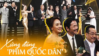 'Về nhà đi con' thắng đậm tạiVTV Awards 2019, Thu Quỳnh lỡ giải nhưng vẫn được cầm cúp