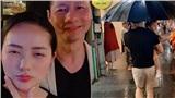 Phan Như Thảo khoe được chồng chiều chuộng, lặn lội mang ô ra đón vợ trong trời mưa gió