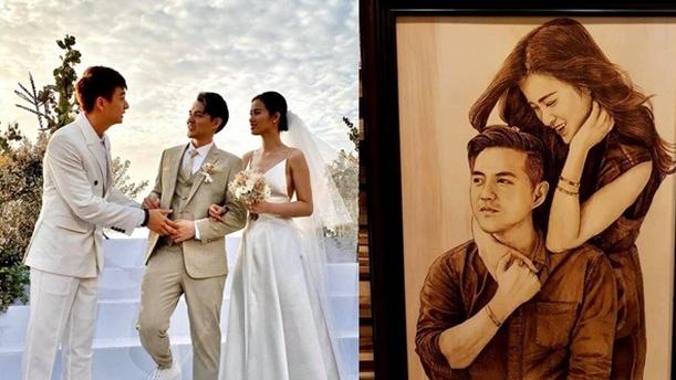 Cận cảnh món quà cưới đặc biệt của Ngô Kiến Huy tặng bạn thân Đông Nhi - Ông Cao Thắng