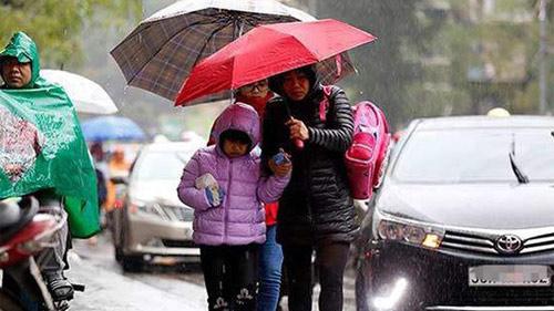 Chiều tối nay miền Bắc đón không khí lạnh tăng cường, Hà Nội chuyển mưa rét trong những ngày tới