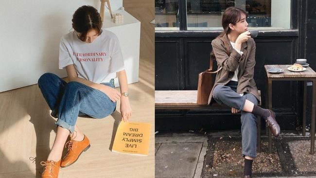 Hội sành mặc châu Á đang rần rần diện quần jeans với một mẫu giày, bạn không biết là thiệt mất bao set đồ đẹp