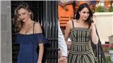 Học cách mặc váy maxi tuyệt đẹp như Meghan Markle, Taylor Swift