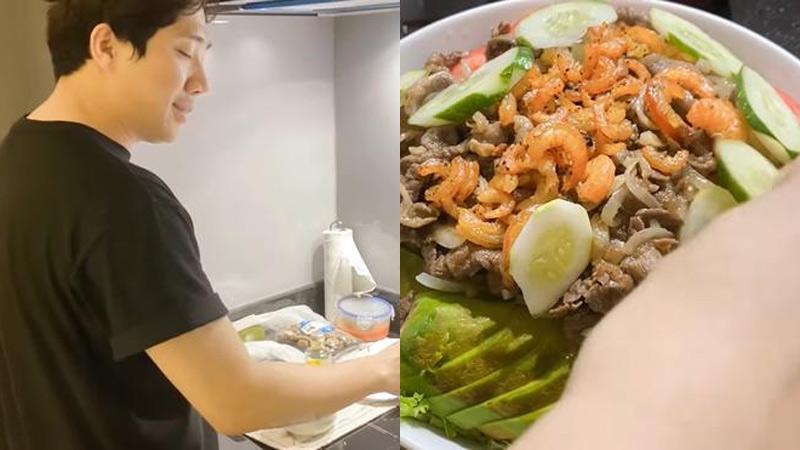 Trấn Thành bất ngờ nấu nướng lúc 12 giờ đêm, món ăn khiến Hari Won 'hoảng hốt'
